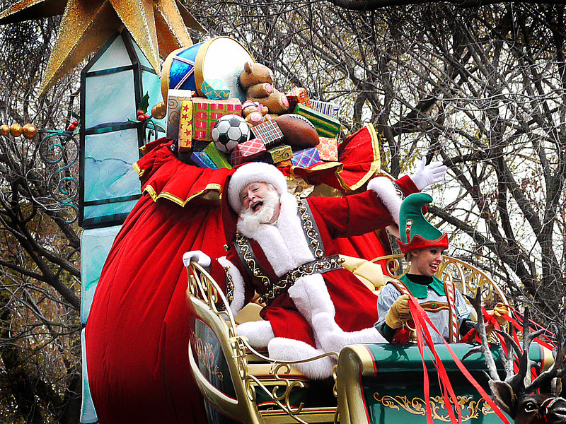 CHRISTMAS BEGINS IN NEW YORK on Thanksgiving with the arrival of St. Nick on Central Park West- as part of the Macy's Department Store Thanksgiving Day Parade.