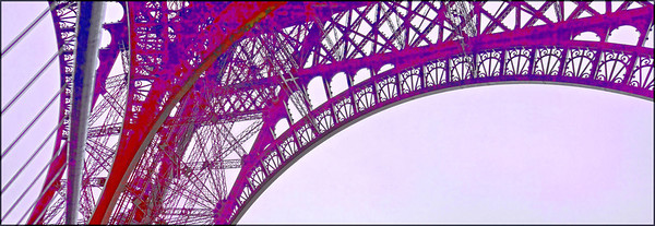 This version of the Eiffel Tower was inspired by a pastel drawing I saw in a gallery.