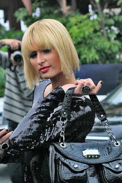Malibu,California,April 02,2009. Paris Hilton during the set of her new reality show at the Duke's Malibu restaurant.