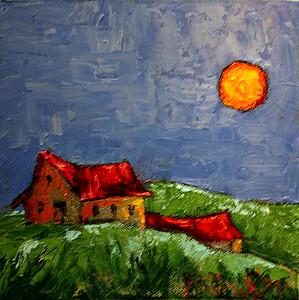 MIDNIGHT PEACE - 8x8/oil on canvas