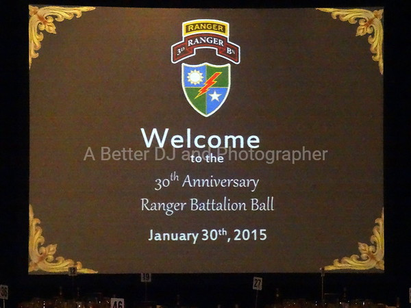 30th Anniversary  3/75 Ranger Regiment Ranger Ball