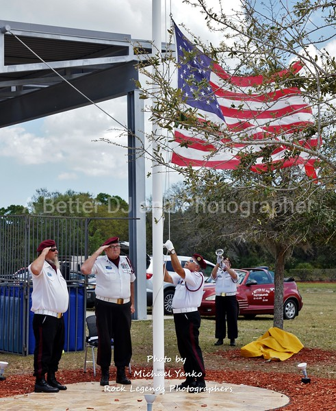 SPACE COAST HARLEY DAVIDSON HONOR GUARD FLAG RETIREMENT 3-19-17