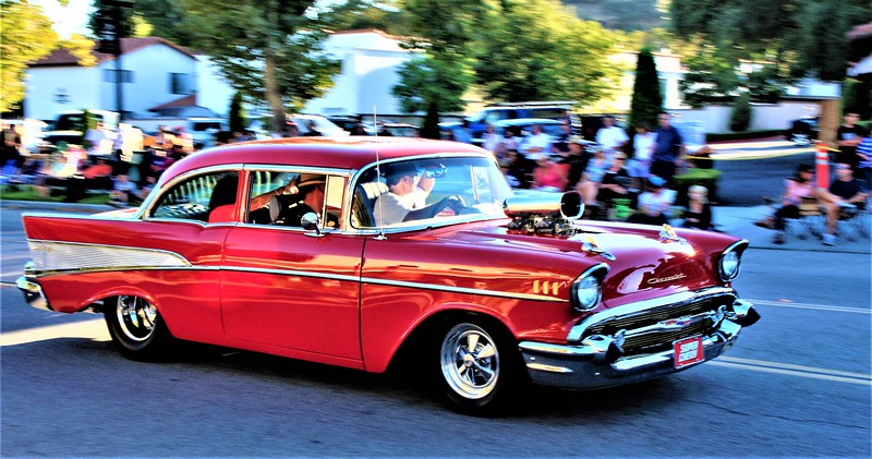 Supercharged 57 Chevy