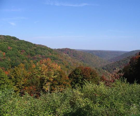 Autumn view of Pennsylvania mountains