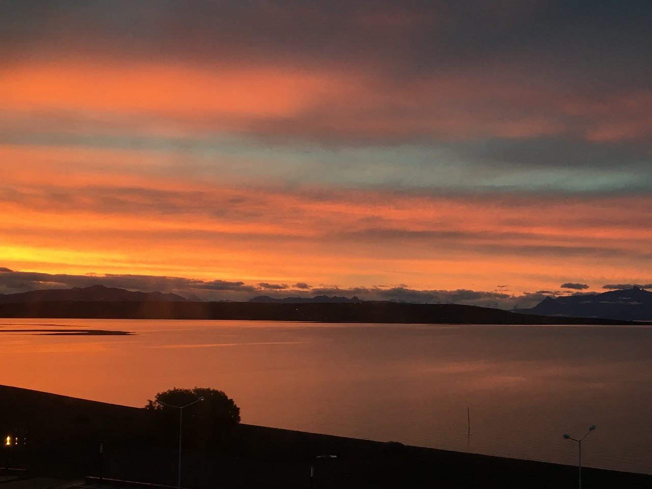 From our room-our last night in Argentina. Lago Argentina in all its glory.