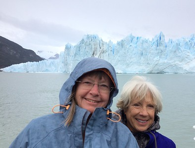 Spent the day at the Perito Moreno Glacier. None of my photos begins to show the immensity or beauty of this massive Glacier. It is 70 meters tall on the face. Saw many huge calvings.