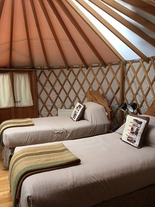Patagonia Camp yurt -- Fabulous. Beautiful and comfortable. Gorgeous bathroom.