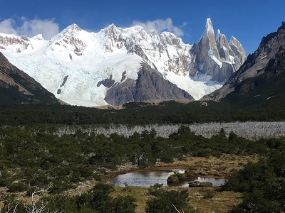Falling in love w Mt. Torre. The spiky one on the right.  Fabulous!