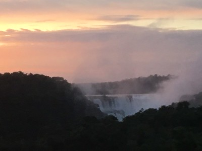 Iguazu Falls -- Below sunrise from our hotel. El Diablo.