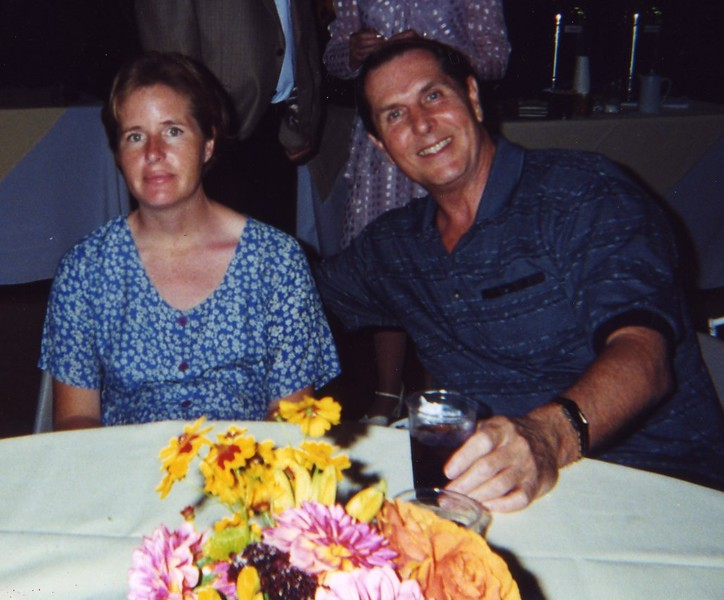 At dinner Bill and Jennifer Monahan's Wedding Sept 2000