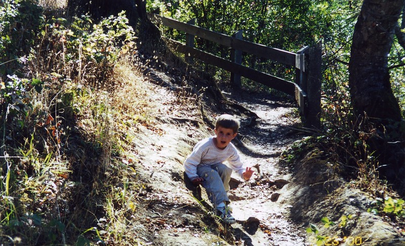 Paul climbing the trails Patty Monahan's Wedding Sept 2000