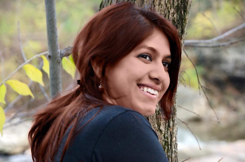 ARCHANA CHANDURI SMOOTH SKIN AND REDISH BROWN HAIR