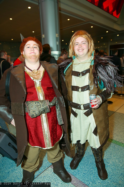 Varric Tethras and Anders