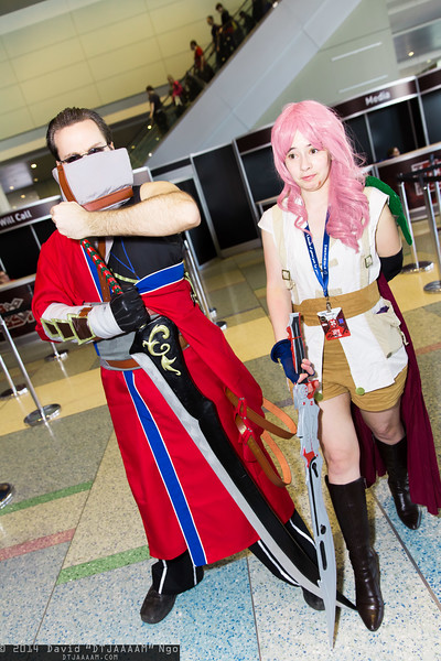 Auron and Lightning