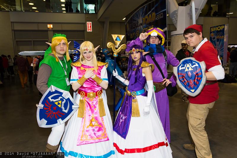Links, Princess Zelda, Princess Hilda, and Ravio