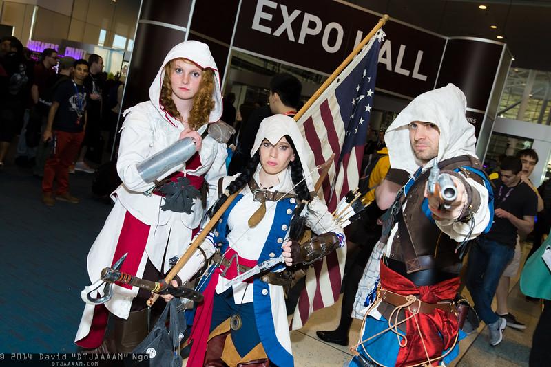 Ezio Auditore da Firenze, Connor Kenway, and Edward Kenway
