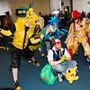 Zapdos, Exeggutor, Articuno, Ash Ketchum, Moltres, and Pikachu
