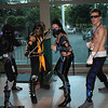 Noob Saibot, Scorpion, Sub-Zero, and Johnny Cage