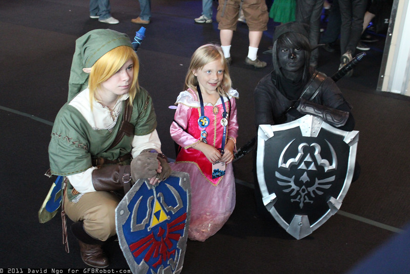 Link, Princess Zelda, and Dark Link