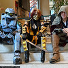 Master Chief, Scorpion, and Connor Kenway