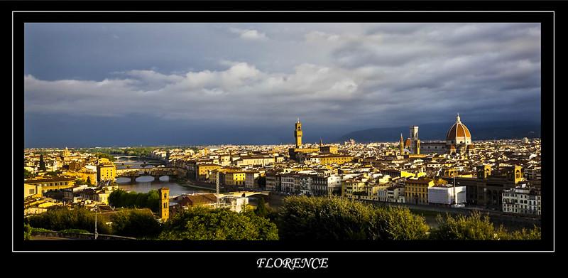 Vue de Florence le matin