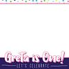 Confetti Birthday Girl 4x6