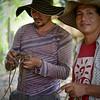 Wilman Gonzales (ACVC) y Franco Gomez (ACVC) durante un acompañamiento a la ACVC en que la organización realiza una categorización biológica de la Serranía de San Lucas, Sur de Bolívar.