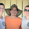 Delphine Taylor (PBI), Franco Gómez (ACVC), Hannah Matthews (PBI) durante un acompañamiento a la ACVC en la Serranía de San Lucas, Sur de Bolívar.