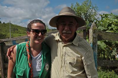 Clara y Gerardo (campesino), Lejanías, Septiembre 2017