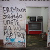 "Graffitti in Puerto López.  It reads ""Brother Soldier Join the Fight"""