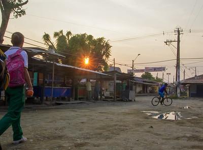 La plaza del mercado de Nechí