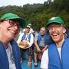 Aco en el Río San Juan (Valle del Cauca) a la CIJP,<br /> Laetitia y Miguel (con el acompañado Enrique Chimonja), abril de 2017