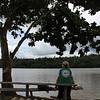 Brigadista contemplando el rio San Juan, agosto 2017