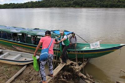 Brigadista en acción, rio San Juan, Agosto 2017