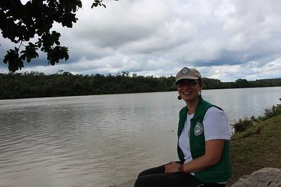 Laeticia, em el rio San Juan, agosto 2017