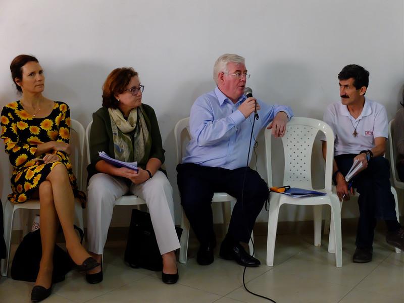 En julio 2016 los líderes de Curbaradó y la Comisión Intereclesial de Justicia y Paz se reunieron con el enviado especial de la UE para el proceso de paz, Eamon Gilmore, la embajadora de la UE en Colombia y representantes de las embajadas de Francia, Suecia y España y la agencia de cooperación española en Urabá, para hablar del riesgo de los defensores de derechos humanos y reclamantes de tierra en Curbaradó y en la región de Urabá.