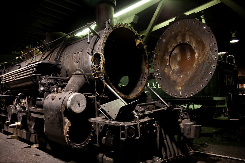 LOCOMOTIVE IN FOR MAINTENANCE