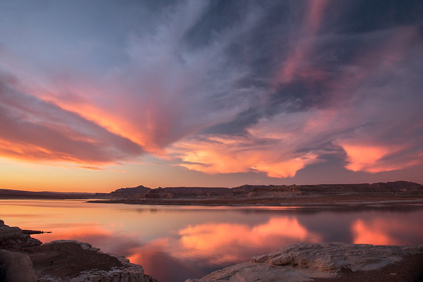 LAKE POWELL SUNSET REFLECTION
