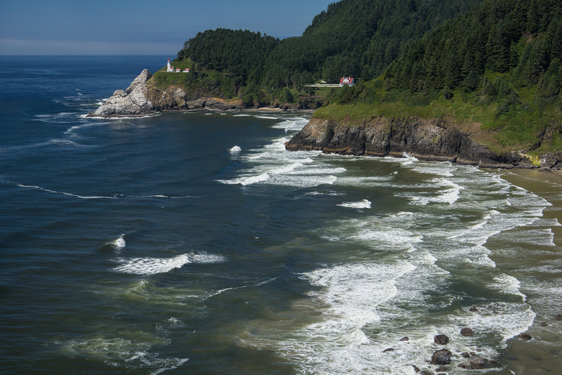 COASTLINE OF HECETA HEAD LIGHTHOUSE
