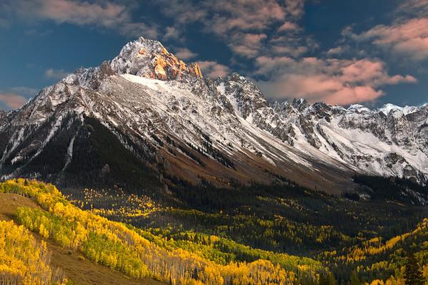 MOUNT SNEFFELS AT SUNSET