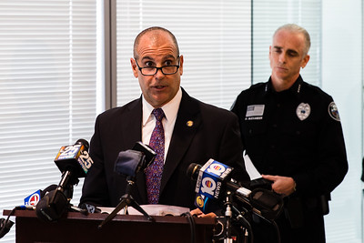 FBI Assistant Special Agent Michael A. D'Alonzo gives and update on the Kim and Joey Bochiccio murder at the Grogan and Dove Federal Building in Miramar, FL. on September 29, 2015. (Joseph Forzano / The Palm Beach Post)