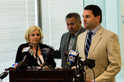 Peter Sosin, attorney for JoAnn and Stanley Bruno give a brief statement after the joint FBI and Boca Raton Police Department press conference at the Grogan and Dove Feredal Building in Miramar, FL. on September 29, 2015.