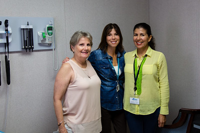 Diane Williams (Patient and Volunteer Coordinator), Amy Pepper (Acting Director and Board Secretary) and Alexandra Davenport (Dental Referral Program Coordinator) of MyClinic on Indiantown Road in Jupiter, FL. MyClinic  provides primary health care to adults and serves low-income residents. (Joseph Forzano / The Palm Beach Post)