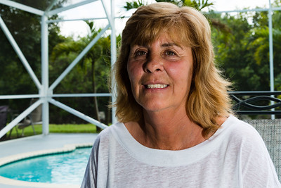 Portrait of Georgia McGeeney at one of the sober homes she runs in Loxahatchee, FL., on Friday, April 1, 2016. Georgia is the owner of All About Recovery an age and gender specific intensive outpatient program and runs several gender and age specific sober homes in Loxahatchee. (Joseph Forzano / The Palm Beach Post)