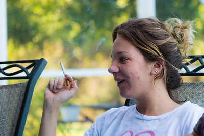 """Eva Derrickson, 26, of Loxahatchee, Florida relates to the residents how the morning meditation """"Keep it Simple"""" relates to her and her path to recovery from heroin addiction on Tusday, May 31, 2016. (Joseph Forzano / The Palm Beach Post)"""