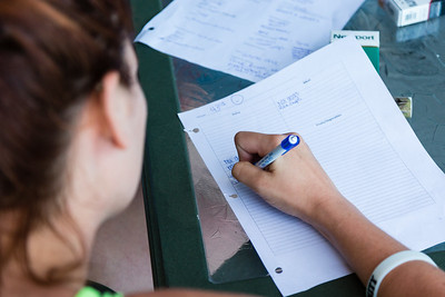 Shelby Sparrow, 21, from Plantation, Florida, fills out a dinner sheet the residents use when it is their turn to cook dinner for the residents of the All About Recovery younger women's sober home in Loxahatchee, Florida on Tuesday, May 31, 2016. Each of the residents take turns cooking dinner for the house during the week and the list is used for the trip to the supermarket. (Joseph Forzano / The Palm Beach Post)