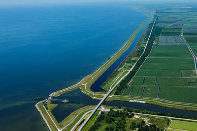 Algae formed around the Herbert Hoover Dam on Lake Okeechobee on Friday, July 8, 2016.  The algae bloom from Lake Okeechobee has grown since it was first measured in May. Environmentalists believe it now stretches more than 200 square miles.  South Florida Water Management District says the aglae bloom has dissipated some, following efforts to minimize impacts from the Lake O discharges. (Joseph Forzano / The Palm Beach Post)