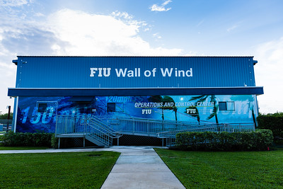 The exterior of the Wall of Wind laboratory at the FIU Engineering Center in Miami Dade on Wednesday, July 27, 2016. FIU hosted a demonstration to show the impact of hurricane-force winds on a scaled down model home. (Joseph Forzano / The Palm Beach Post)