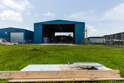 The remains of a wall from the scaled-down model house used in the hurricane-force wind test at Wall of Wind laboratory at the FIU Engineering Center in Miami Dade on Wednesday, July 27, 2016. FIU hosted a demonstration to show the impact of hurricane-force winds on a scaled down model home. (Joseph Forzano / The Palm Beach Post)