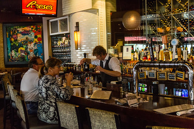 City Cellar in City Place was the first restaurant open on Friday, October 7, 2016, after Hurricane Matthew brushed the Palm Beach coastline. (Joseph Forzano / The Palm Beach Post)
